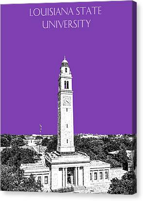 Memorial Canvas Print - Louisiana State University - Memorial Tower - Purple by DB Artist