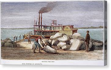 Louisiana Steamboat, 1876 Canvas Print by Granger