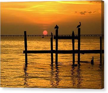 Louisiana Sunset  Canvas Print