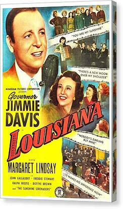 Louisiana, Us Poster, From Left Jimmie Canvas Print by Everett