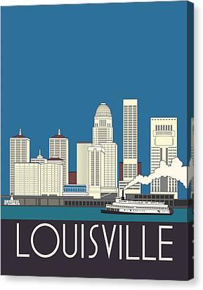 Louisville Art Deco Skyline Canvas Print by Josef Spalenka
