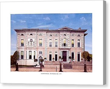 Louisville Kentucky - The Pendennis Club - 1919 Canvas Print