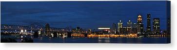 Canvas Print featuring the photograph Louisville Skyline by Deborah Klubertanz
