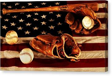 Baseball Glove Canvas Print - Louisville Slugger by Dan Sproul