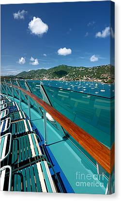 Lounge Chairs On Cruise Ship Canvas Print by Amy Cicconi
