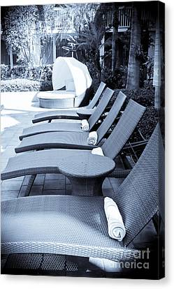 Lounge Chairs Canvas Print by Sophie Vigneault