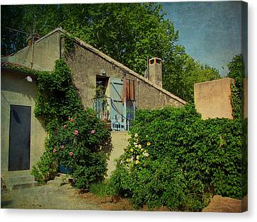 Lourmarin Cottage Canvas Print by Carla Parris