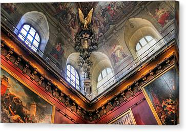 Canvas Print featuring the photograph Louvre Ceiling by Glenn DiPaola