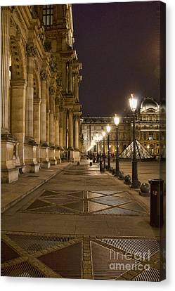 Louvre Courtyard Canvas Print by Crystal Nederman