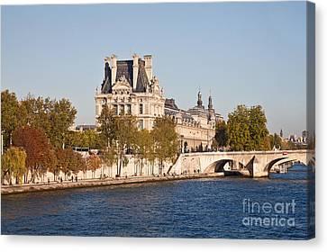 Louvre Museum  Paris  France Canvas Print by Liz Leyden