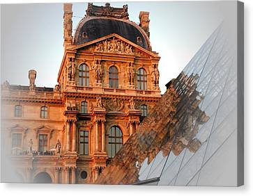 Canvas Print featuring the photograph Louvre And Pei by Jacqueline M Lewis