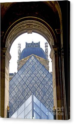 Louvre Palace Museum.paris. France Canvas Print by Bernard Jaubert