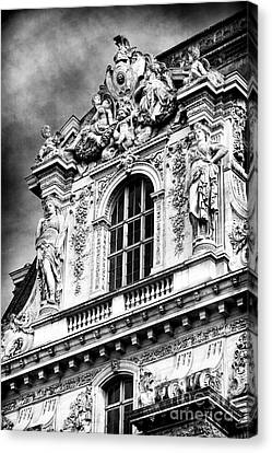 Louvre Palace Window Canvas Print by John Rizzuto