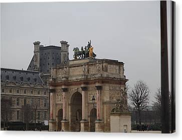 Fountains Canvas Print - Louvre - Paris France - 011325 by DC Photographer