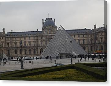 Louvre - Paris France - 01138 Canvas Print by DC Photographer