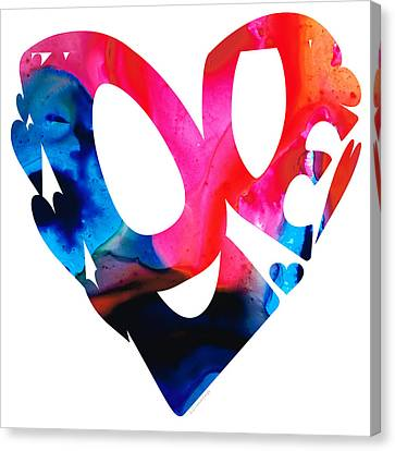 Love 17- Heart Hearts Romantic Art Canvas Print by Sharon Cummings