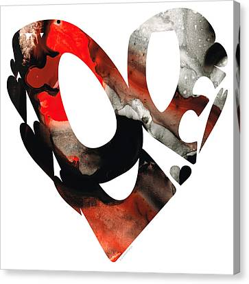 Passionate Lovers Canvas Print - Love 18- Heart Hearts Romantic Art by Sharon Cummings