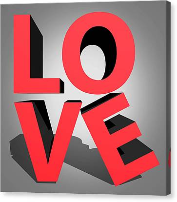Love 2 Canvas Print by Mark Ashkenazi