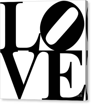 Love 20130707 Black White Canvas Print by Wingsdomain Art and Photography