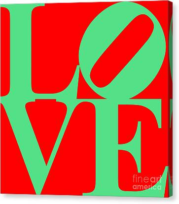 Love 20130707 Green Red Canvas Print by Wingsdomain Art and Photography