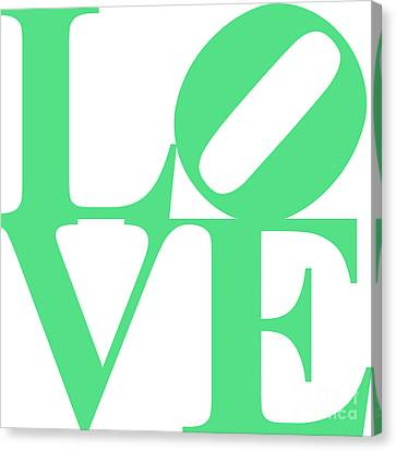 Valentimes Canvas Print - Love 20130707 Green White by Wingsdomain Art and Photography