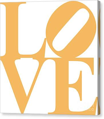 Valentimes Canvas Print - Love 20130707 Orange White by Wingsdomain Art and Photography
