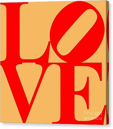 Valentimes Canvas Print - Love 20130707 Red Orange by Wingsdomain Art and Photography