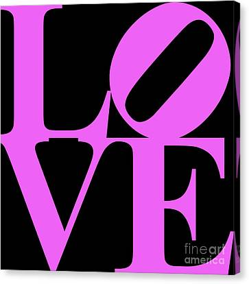 Valentimes Canvas Print - Love 20130707 Violet Black by Wingsdomain Art and Photography