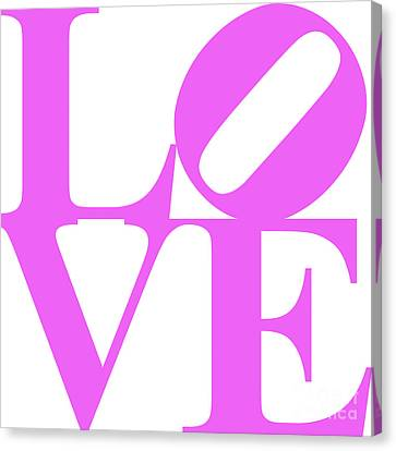 Valentimes Canvas Print - Love 20130707 Violet White by Wingsdomain Art and Photography