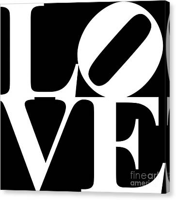 Love 20130707 White Black Canvas Print by Wingsdomain Art and Photography