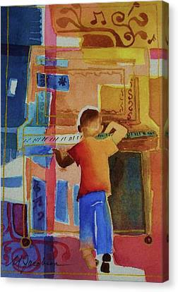 Love A Piano 1 Canvas Print by Marilyn Jacobson