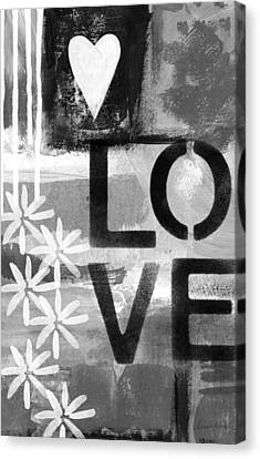 Love- Abstract Painting Canvas Print