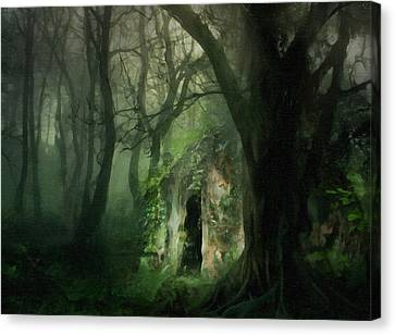 Meetings Canvas Print - Love Affair With A Forest by Georgiana Romanovna
