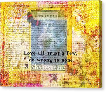 Shakespeare Love Quote Canvas Print