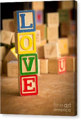 Love - Alphabet Blocks Canvas Print by Edward Fielding