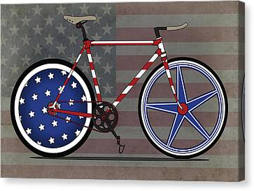 Messenger Canvas Print - Love America Bike by Andy Scullion