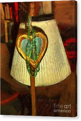 Interior Still Life Canvas Print - Love Among Chaos by RC DeWinter