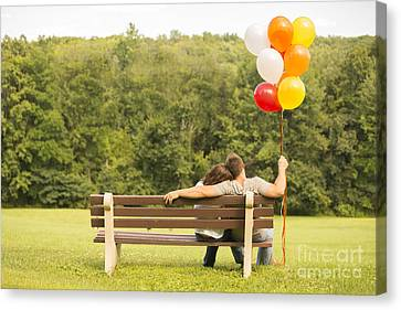 Love And Balloons Canvas Print by Diane Diederich