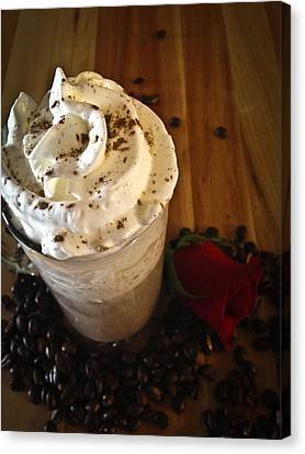 Capuccino Canvas Print - Love And Chocolate by Deborah Klubertanz