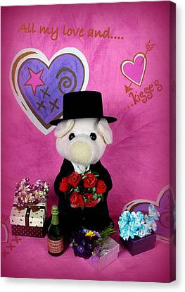 Love And Kisses Canvas Print by Piggy