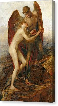 Angels Watching Canvas Print - Love And Life by George Frederick Watts