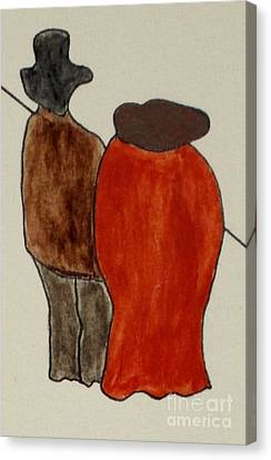Canvas Print featuring the painting Love And Marriage by Bill OConnor
