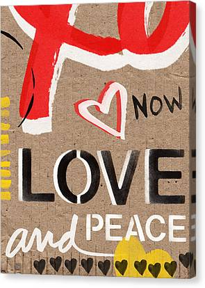 Love And Peace Now Canvas Print by Linda Woods