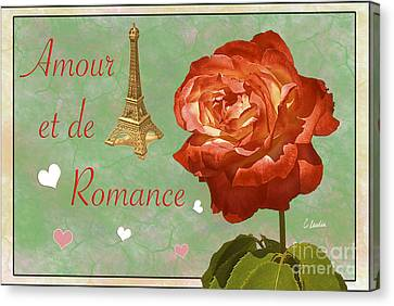 Love And Romance Canvas Print by Claudia Ellis