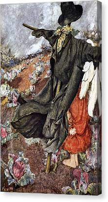 Love And The Scarecrow Canvas Print by Eleanor Fortescue Brickdale