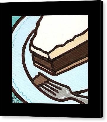 Love At First Bite Chocolate Cream Pie Canvas Print by Jim Harris