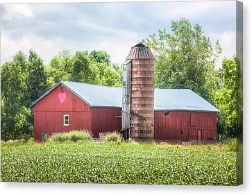 Canvas Print featuring the photograph Love Barn by Gary Heller