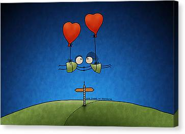 Couple Canvas Print - Love Beyond Boundaries by Gianfranco Weiss