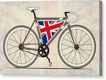 Love Bike Love Britain Canvas Print