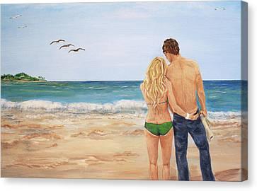 Love Birds Canvas Print by Nancy Chenet
